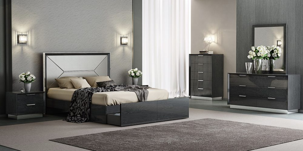 Grey or white bedroom