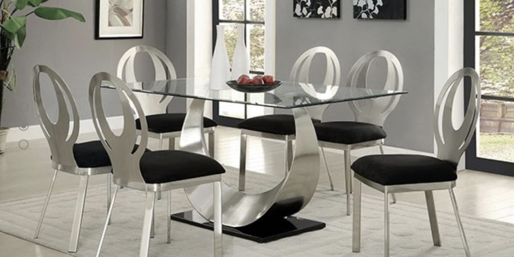Satin Plated Metal Dining Room