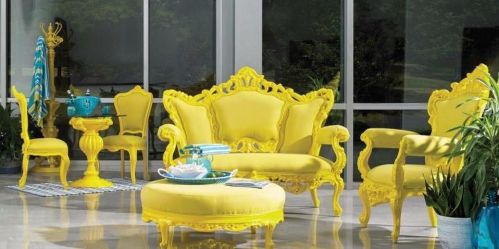Yellow/Orange Victorian Furniture