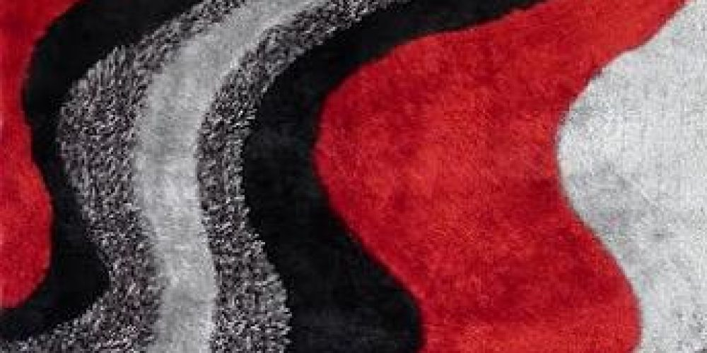 Red Shaggy rugs