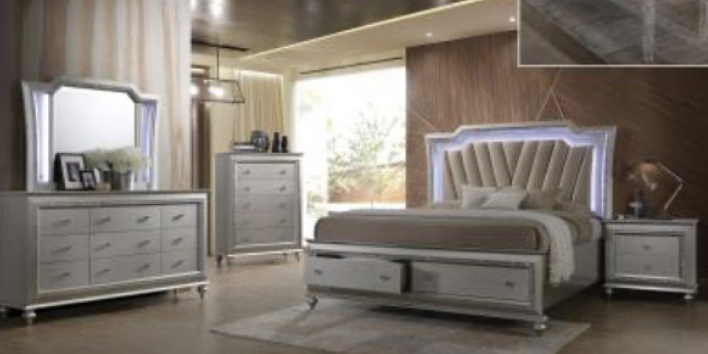 LED Bedroom (silver, grey)